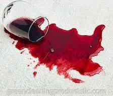 usuwanie plam z wina